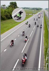 Колонна мотоциклистов на г.Брест