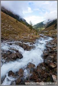 Альпы, спуск с Тиммельсьеч Timmelsjoch