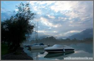 Рассвет на озере Гарда