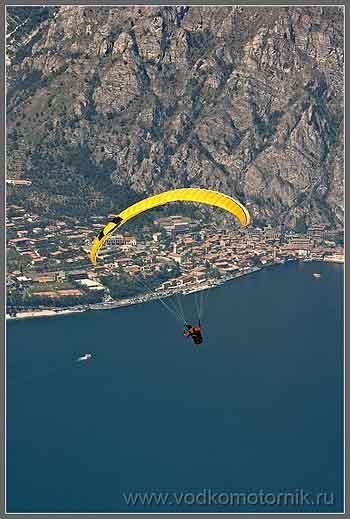 Пролетая над озером Гарда (Garda).