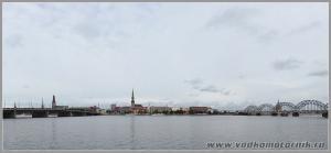 Панорама Риги.