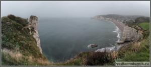 Панорама в Этрета