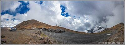 Панорама перевала Медвежий крест 2670 метров