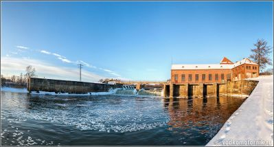 Электростанция на реке Лава в пос. Курортное