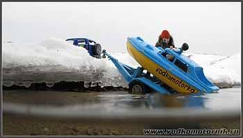 Спуск катера (водкомоторки)