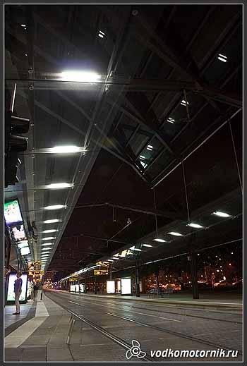Дрезден. Трамвайная остановка.