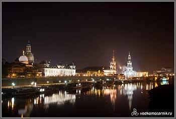 Ночной Дрезден.