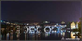 Прага ночная - мосты.