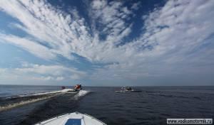 Водкомоторники уходят в Ладогу