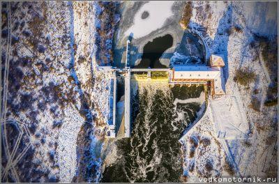 ГЭС-4 на реке Лава в п. Курортное