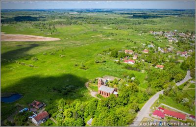 Большая поляна кирха Патерсвальде - аэросъемка