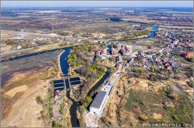 Знаменск - шлюз и мукомольный завод вид сверху