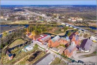 Знаменск - вид на мукомольный завод с высоты