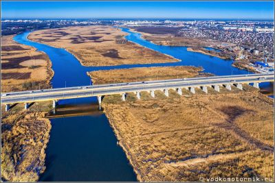 Мост через реку Преголя на рассвете
