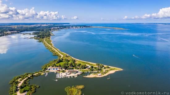 Яхтклуб на Калининградском заливе - аэросьемка