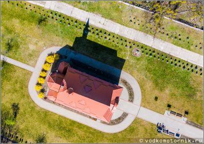 Храм Скорбящей Божией Матери 1928 г. с высоты птичьего полета