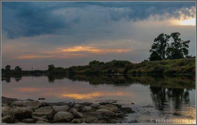 Закат на реке Матросовка