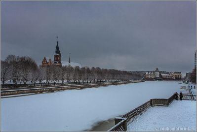 Калининград после первого снегопада