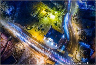 Королевские ворота ночью в Калининград