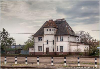 Здание узкоколейного вокзала Тапиау, Гвардейск