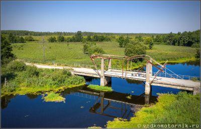 Мост на реке Ржевка, аэросъемка