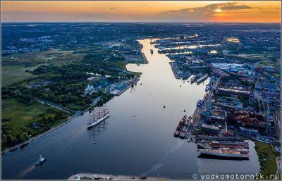 Барк Седов возвращается в порт Калининград
