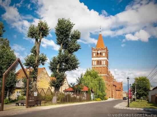 кирха Фридланда вид со стороны города