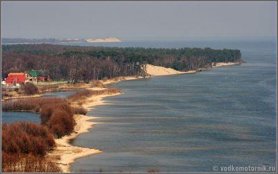 Вид с дюны Эфа на пос. Морское