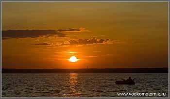 Закат на Калининградском заливе.