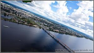 Крыло дракона над Даугавой. Рига Латвия