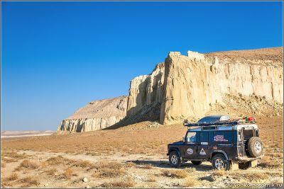 Казахстан. Белые скалы плато Актолагай