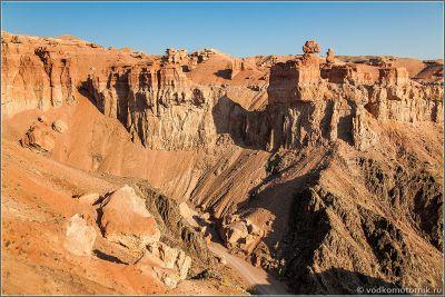 Казахстан. Утренние виды Чарынского каньона