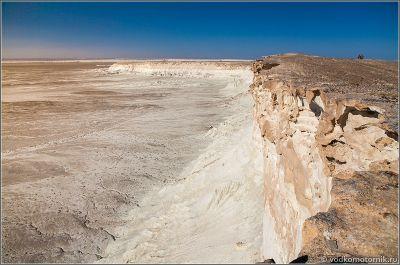 Казахстан - космические виды плато Устюрт