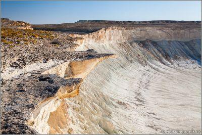 Казахстан - утренняя прогулка по плато Устюрт