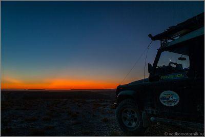 Казахстан - закат на плато Устюрт