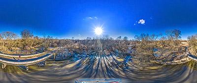 Аэропанорама 360° плотина р.Прохладная