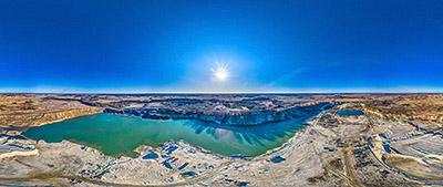 Аэропанорама 360° карьера