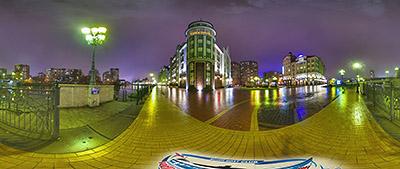 Панорама 360° отель Кайзерхоф и Рыбная деревня в Калининграде