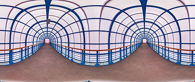 Панорама 360° тоннель Большого адронного коллайдера