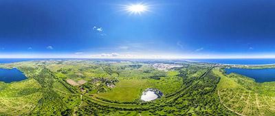 Аэропанорама 360° озеро Синявинское