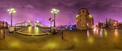 Панорама 360° Юбилейный мост в Калининграде