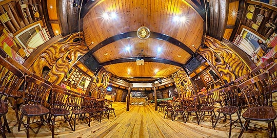Панорама 360° ресторана в Лесном отеле Голубино