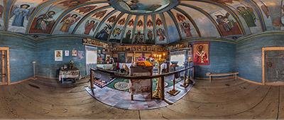 Панорама 360° Никольской часовни в Вершинино