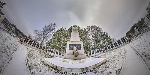 Панорама 360° братской могилы в Богатово