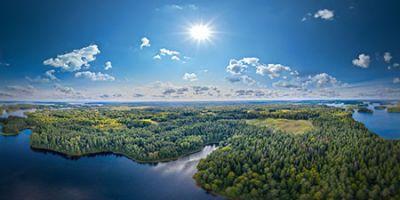 Аэропанорама 360° озера Селигер