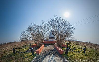 Памятник погибшему экипажу МиГ-23УБ, п.Владимирово 3d тур
