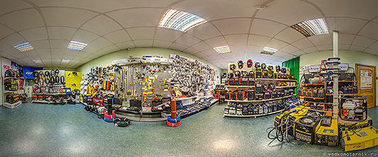 Панорама 360° торгового зала магазина сварочного оборудования АТЕКС