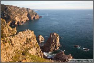 Мыс Рока - Атлантический океан и скалы