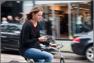 Амстердам - велосипедистка