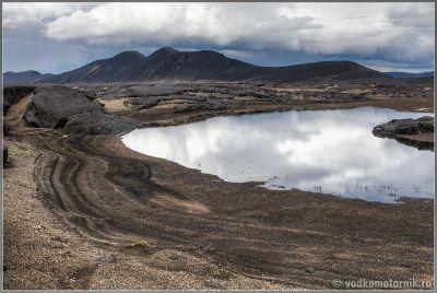 Исландия Аскья. Сажа, шлак и лава